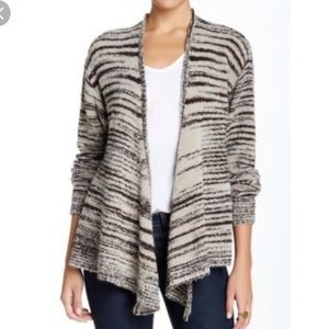 NWOT Plenty Drape Wool Blend Striped Cardigan